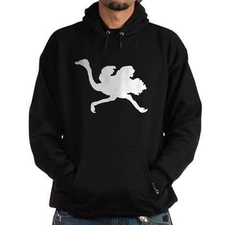 White Ostrich Silhouette Hoody