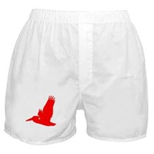 Red Pelican Silhouette Boxer Shorts