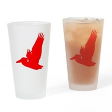 Red Pelican Silhouette Drinking Glass
