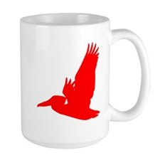 Red Pelican Silhouette Mugs