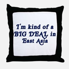 Big Deal in East Asia Throw Pillow