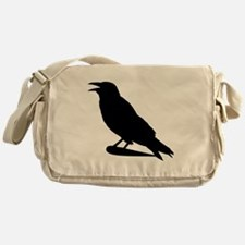 Black Crow Silhouette Messenger Bag