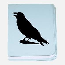 Black Crow Silhouette baby blanket