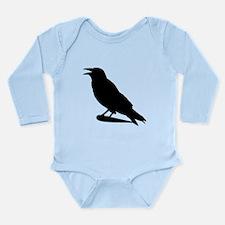 Black Crow Silhouette Body Suit