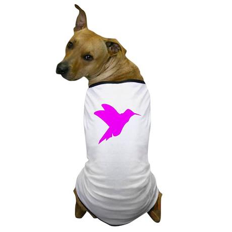 Pink Hummingbird Silhouette Dog T-Shirt