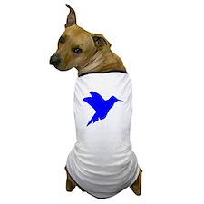 Blue Hummingbird Silhouette Dog T-Shirt