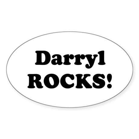 Darryl Rocks! Oval Sticker