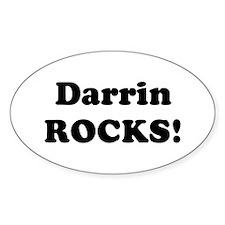 Darrin Rocks! Oval Decal