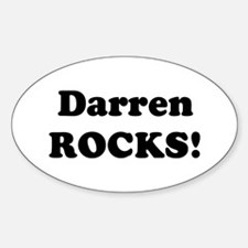 Darren Rocks! Oval Decal