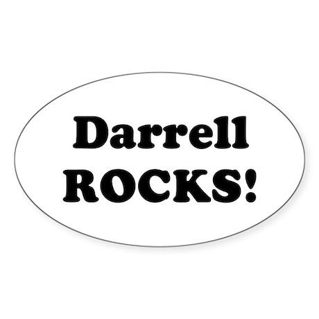 Darrell Rocks! Oval Sticker