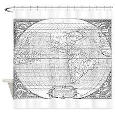 World Map 1587 Shower Curtain