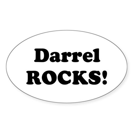 Darrel Rocks! Oval Sticker