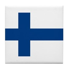 Flag of Finland Tile Coaster