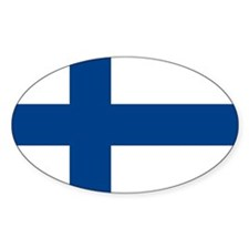 Flag of Finland Oval Decal