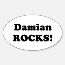 Damian Rocks! Oval Decal