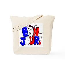 Bonjour! Flag Tote Bag