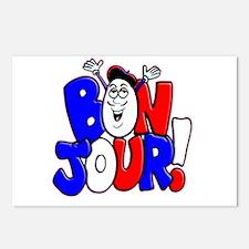 Bonjour! Flag Postcards (Package of 8)