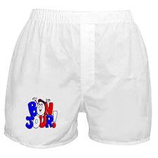 Bonjour! Flag Boxer Shorts