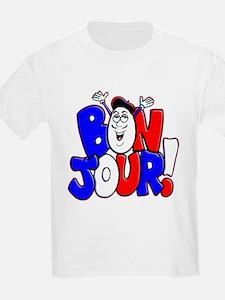Bonjour! Flag Kids T-Shirt