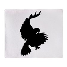 Black Hawk Silhouette Throw Blanket