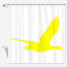 Yellow Stork Silhouette Shower Curtain