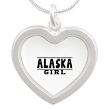 Alaska Girl Designs Silver Heart Necklace