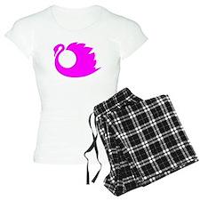 Pink Swan Silhouette pajamas