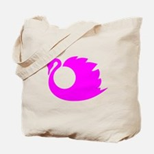 Pink Swan Silhouette Tote Bag