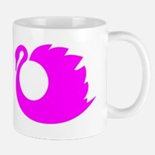 Pink Swan Silhouette Mugs