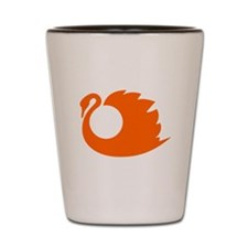 Orange Swan Silhouette Shot Glass