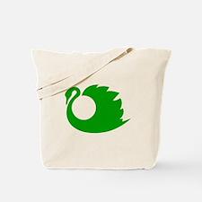 Green Swan Silhouette Tote Bag