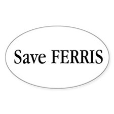 Save Ferris Oval Decal