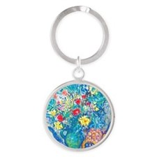 marc chagall still life Round Keychain