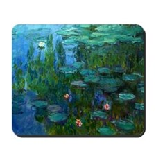 monet nymphea lily pond giverny Mousepad