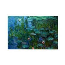 monet nymphea lily pond giverny Rectangle Magnet