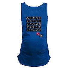 alphabet2 Maternity Tank Top