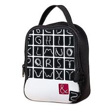 alphabet2 Neoprene Lunch Bag