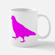 Pink Pigeon Silhouette Mugs