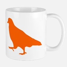 Orange Pigeon Silhouette Mugs