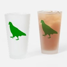Green Pigeon Silhouette Drinking Glass