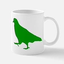 Green Pigeon Silhouette Mugs