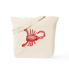 Red Scorpion Tote Bag