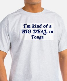 Big Deal in Tonga Ash Grey T-Shirt
