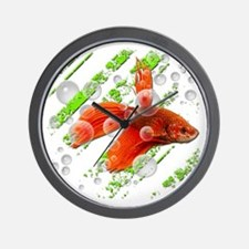 Fighting fish Wall Clock