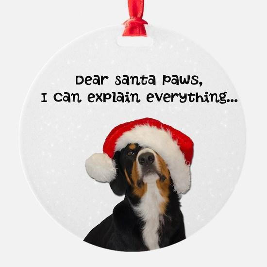 Dear Santa Paws, I can Explain Ornament