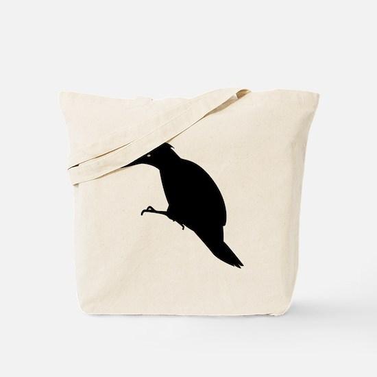 Black Yaffle Silhouette Tote Bag