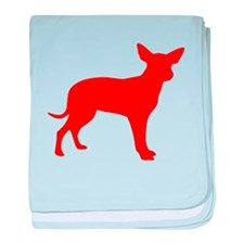 Red Dingo Silhouette baby blanket