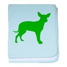 Green Dingo Silhouette baby blanket