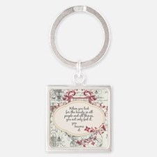 Inspirational Beauty Quote Square Keychain