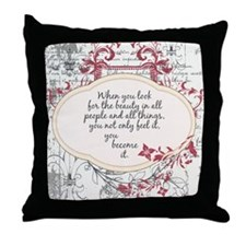 Inspirational Beauty Quote Throw Pillow